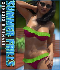 Summer Frills Bikini Genesis 8 Female