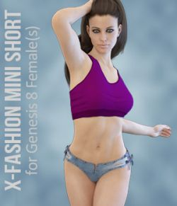 X-Fashion Mini Short for Genesis 8 Females