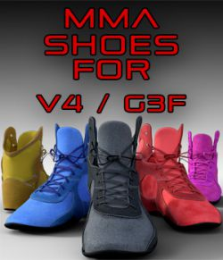 MMA Shoes for Genesis 3 Females and Victoria 4