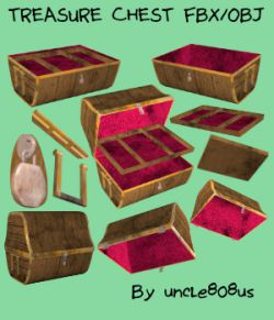 Treasure Chest FBX OBJ