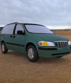 Chevy Venture 1998- 3ds and obj- Extended License