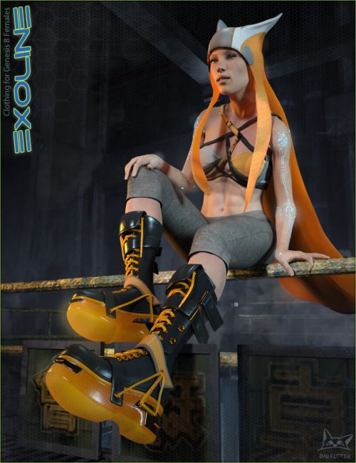 Exoline Boots and Accessories for Genesis 8 Female(s)