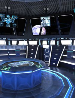 Futuristic Command Center