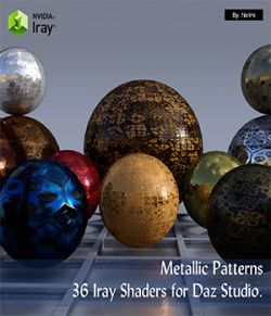 Metallic Patterns- 36 Iray Shaders for Daz Studio