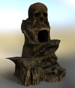 Skull Rock Mountain for DAZ Studio
