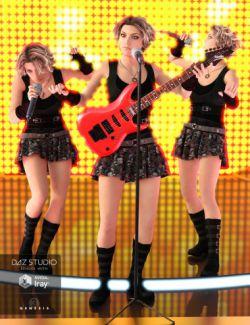 Rock Diva Poses for Genesis 3 Females