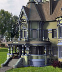 MS17 Carson Mansion for DAZ 4.9