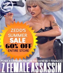 Z Female Assassin - Poses for the Genesis 3 Female(s)