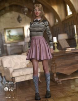 Nerdy Girl Outfit for Genesis 3 Female(s)