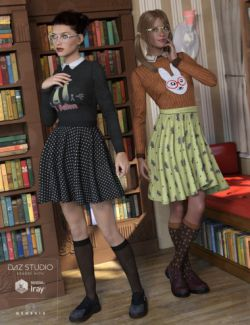 Nerdy Girl Outfit Textures