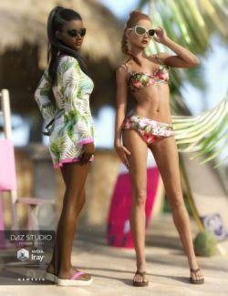 Karly Bikini Outfit Textures