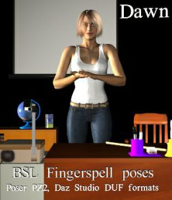 BSL Fingerspell Poses for Dawn