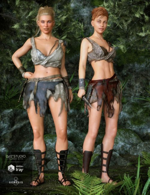 Barbarian Warrior Outfit Textures