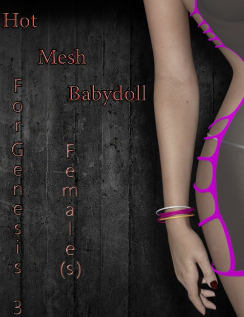 Hot Mesh Babydoll For Genesis 3 Females