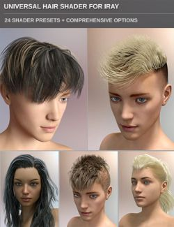 Universal Hair Shader for Iray