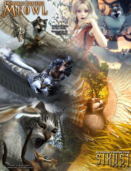 Impossible Creatures: Meowl for Daz Studio