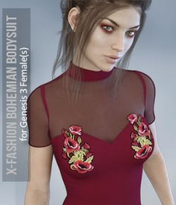 X-Fashion Bohemian Bodysuit for Genesis 3 Females