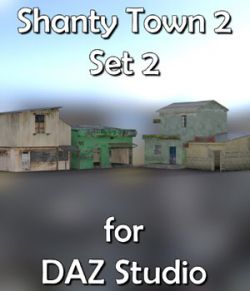 Shanty Town Buildings 2 Set 2 for DAZ Studio