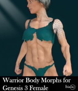 Warrior Body Morphs for Genesis 3 Female