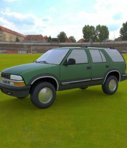 Chevy S10 Blazer 1998 for 3ds and obj - Extended License