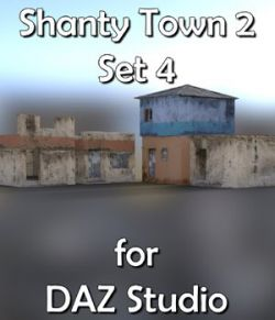 Shanty Town Buildings 2: Set 4 for DAZ Studio