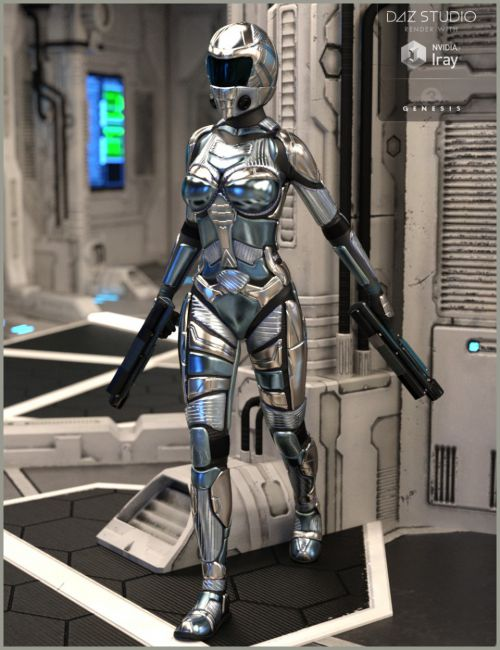 Lunar Guard Outfit for Genesis 3 Female(s)