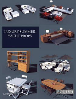 Luxury Summer Yacht Props
