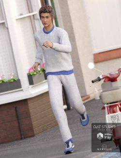 Sweatsuit for Genesis 3 Males