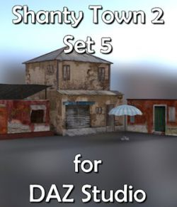 Shanty Town Buildings 2: Set 5 for DAZ Studio