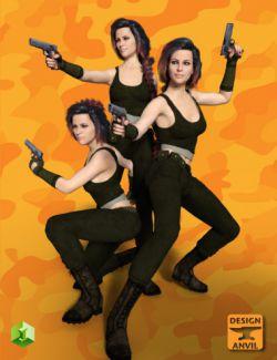 DA Hand Gun and Poses for Genesis 8 Female(s)