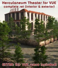 Herculaneum Theater - the complete set for VUE