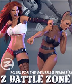 Z Battle Zone - Poses for the Genesis 3 Female(s)