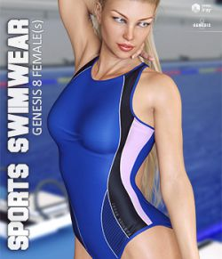 Sports Swimwear for Genesis 8 Females