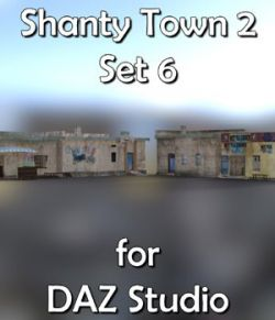 Shanty Town Buildings 2: Set 6 for DAZ Studio
