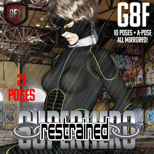 SuperHero Restrained for G8F Volume 1