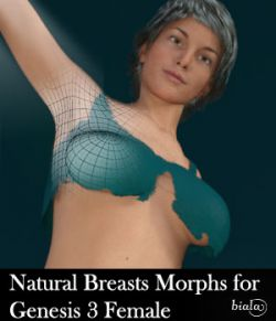 Natural Breasts Morphs for Genesis 3 Female