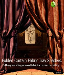 Folded Curtain Fabric- 25 Iray Shaders for Daz Studio