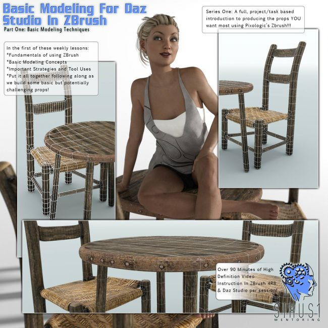 Sixus1 Mentoring Week 1: Basic Modeling In Zbrush For DazStudio