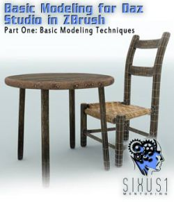 Sixus1 Mentoring Week 1: Basic Modeling In Zbrush For DazStudio