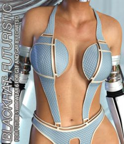 BLACKHAT:FUTURISTIC- Future Swimwear 6 for G3F and G8F