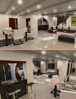 Modern Living Room and Dining Room