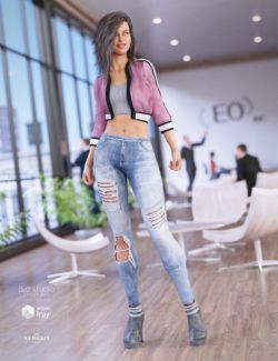 Crop Jacket Outfit for Genesis 8 Female(s)
