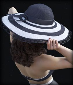 Morphing Wide Brimmed Hat for G3F/G8F and Universal Prop