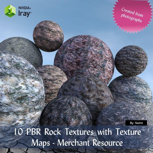 10 PBR Rock Textures with Texture Maps - Merchant Resource
