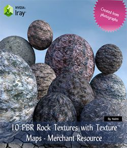 10 PBR Rock Textures with Texture Maps- Merchant Resource