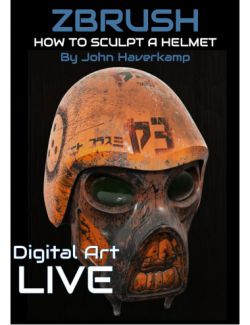 ZBrush Masterclass : How to Sculpt an Armoured Helmet Tutorial