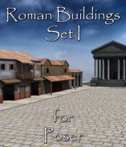 Roman Buildings Set I  for Poser