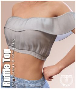 Ruffle Top for Genesis 8 Females