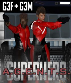 SuperHero Agents for G3F and G3M Volume 1