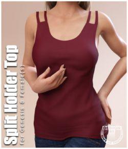 Split Holder Shirt for Genesis 8 Female(s)